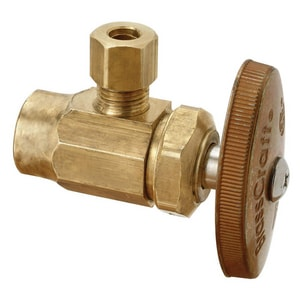 Brass Craft Nom x OD Compression Brass Multi-Turn Angle Stop Valve BR09XR