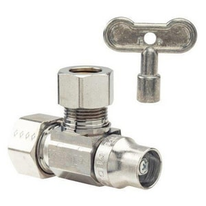 Brass Craft KT™ Series 1/2 in T-Handle Angle Supply Stop Valve in Polished Chrome BKTSCR39XC