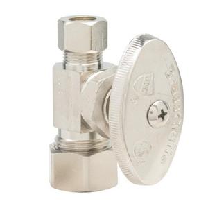 Brass Craft 1/2 x 3/8 in. Nom Compression x OD Compression Straight Stop Valve in Oil Rubbed Bronze BOCR14XBZ