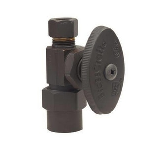 Brass Craft PR14 Series 1/2 in x 3/8 in Oval Handle Straight Supply Stop Valve in Oil Rubbed Bronze BPR14XBZ