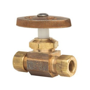 Brass Craft OCR11 Series 1/4 in x 3/8 in Oval Handle Straight Supply Stop Valve BOCR11X