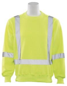 ERB Safety Safety Sweatshirt in Hi-Viz Lime ES143