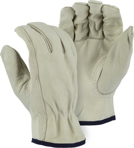 Majestic Glove Leather Drive Gloves in Beige M1510BT01