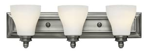 Hinkley Lighting Claire 7-3/10 in. 100W 3-Light Wall Mount Medium E-26 Bath Light H53583