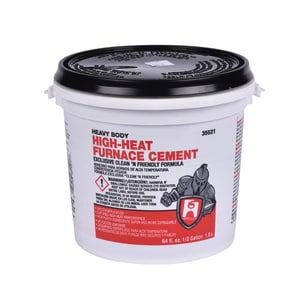 Hercules Chemical 1/2 gal. Furnace Cement in Black H35521