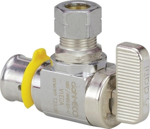 Viega 1/2 in x 1/4 in Lever Handle Angle Supply Stop Valve in Polished Chrome V93511