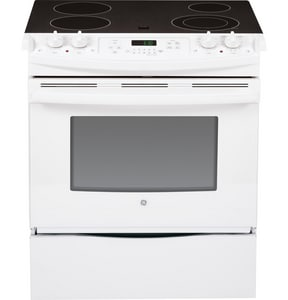General Electric Appliances 31-3/4 x 28-1/2 in. 4.4 cf 4-Burner Electric Slide-In Range GJS630DF