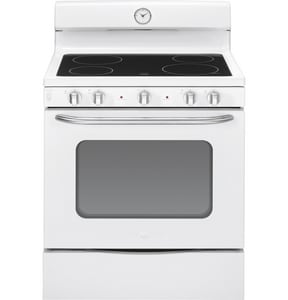 General Electric Appliances Artistry™ 30 in. 5 cf 4-Radiant Burner Freestanding Electric Range GABS45DFS