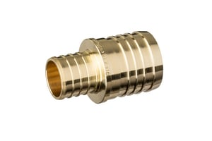 1-1/2 x 1 in. PEX Brass Reducing Coupling QQQC75GX