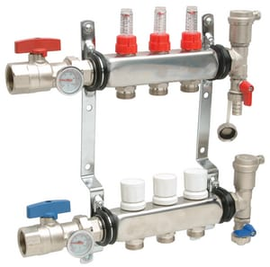 Qest Stainless Steel Heating Manifold with Thermometer QQHPMS
