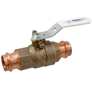 Nibco PC-585-80-LF Press x Press Female 2-Piece Bronze Full Port Ball Valve with Locking Lever Handle NPC58580LFNS