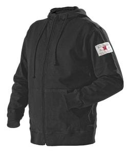 Blaklader M Size Full Zip Hooded Sweat Shirt in Black B365610609900M at Pollardwater