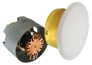 Uponor North America Flat Concealed Sprinkler with Cover Plate in White ULF74971FW