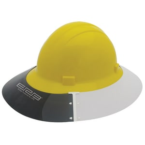 ERB Safety Americana® Sun Shield Hat in Smoke|White EEAS4E2