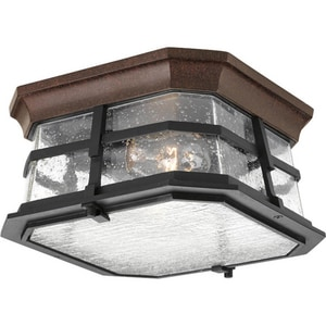 Progress Lighting Derby 5-1/2 x 10 in. Close-to-Ceiling Light Fixture in Espresso PP601784