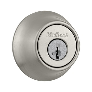 Kwikset Single Cylinder Deadbolt in Satin Nickel K66015SMTRFALRCS