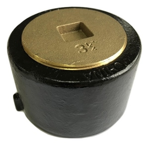 PROFLO® SV Push-On Cleanout Countersunk Brass Plug PFPASVCSK