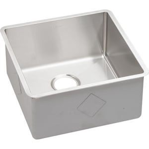Elkay Crosstown™ 18-1/2 x 18-1/2 in. Single Bowl Under-Mount Sink EECTRU17179