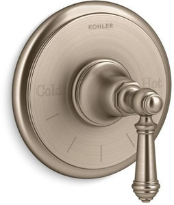 Kohler Artifacts® Thermostatic Valve Trim with Single Lever Handle KT72769-4