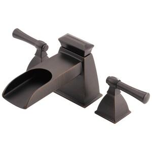 Brizo Vesi® 3-Hole Deckmount Roman Tub Faucet with Double Lever Metal Handle (Trim Only) DT6745