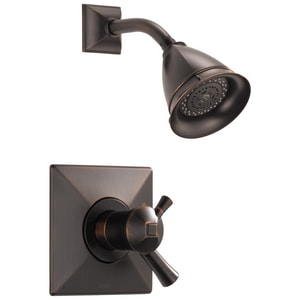 Delta Faucet Vesi® Shower Trim Kit with Double Lever Handle and 1-Function Showerhead (Trim Only) DT60240