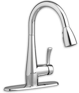 American Standard Quince™ 2.2 gpm Single Lever Handle Deckmount Kitchen Sink Faucet 150 Degree Swivel A4433300