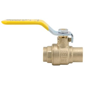 Watts Series LFFBVS-4B 600 psi 2-Piece Brass Sweat Full Port Ball Valve WLFFBVS4B