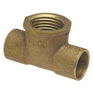 1/2 x 1/2 x 3/8 in. Copper x Female Brass Reducing Tee CCFTLFDDC