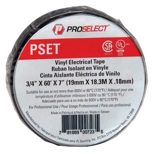 PROSELECT® 3/4 in. x 60 yd. Black Electrical Tape PSXET at Pollardwater