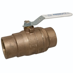 Nibco 2-Piece Bronze and Stainless Steel Solder Conventional Port Ball Valve with Lever Handle NS58066LF