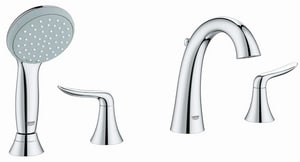 Grohe Agira 2 gpm 4-Hole Roman Tub with Hand Shower G25164