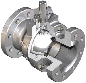 WKM 310 Series 150# Flanged Carbon Steel Full Port Ball Valve with Wall Ring WB110CS42CSWR
