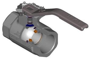 WKM 1500# Threaded Ductile Iron Full Port Nace Left Hand Ball Valve WB238DI43VSSWRK