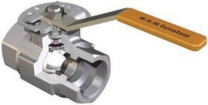 WKM 3 in. 1500# Threaded Full Port Nace Ball Valve with Lever Handle WB138S843S2WRM