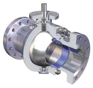 WKM 150# Carbon Steel Flanged Ball Valve Gear Operator W24YRF23150