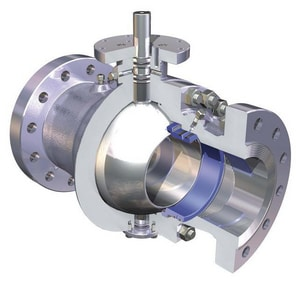 WKM 600# Stainless Steel and Forged Steel Flanged Ball Valve with Gear Operator W24YRF23600