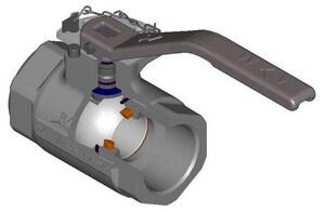 WKM 1 in. 1500 psi Threaded Ductile Iron Full Port Left Hand Ball Valve WJ0241903132201