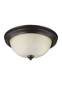 Seagull Lighting Englehorn 5-1/2 in. 60W 2-Light Medium E-26 Base LED Flushmount Ceiling Fixture S77064