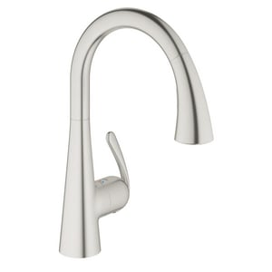 Grohe Ladylux™ 1.75 gpm Single Lever Handle Deckmount Kitchen Sink Faucet 360 Degree Swivel Spout G32298