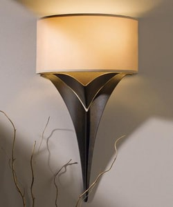 Hubbardton Forge Calla 18 in. 2-Light Direct Wire Wall Sconce with Shade H205315462