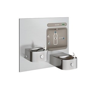 Elkay EZH2O® Bottle Filling Station with Integral Soft Sides Fountain in Stainless Steel EEZWSEDFP217K