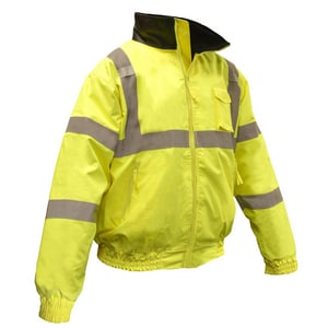 Radians Bomber Jacket in Hi-Viz Green RSJ11Q3ZGS