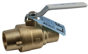 Apollo Conbraco 600# 400 psi Solder Brass Full Port Ball Valve A77FLF20901