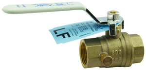 Apollo Conbraco Threaded x NPT Bronze Full Port Stop and Waste Ball Valve A95ALF1001