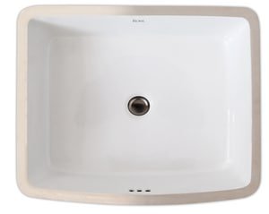 Rohl Undermount Bathroom Sink with Overflow RFE2284
