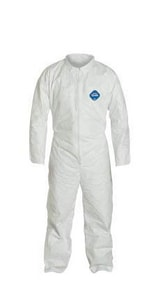 Dupont Protective Apparel Tyvek Coverall with Front Zip DTY120SWH002500