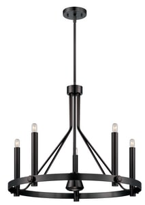 Nuvo Lighting Telegraph 26 in. 40W 5-Light Medium Incandescent Chandelier N605243
