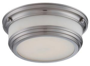 Nuvo Lighting Dawson 1 Light 20W 11-3/8 in. LED Flush Mount Ceiling Fixture N62326