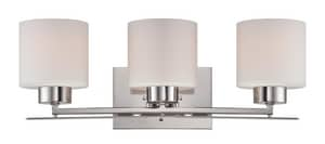 Nuvo Lighting Parallel 7-3/4 in. 100W Vanity Light Fixture in Polished Nickel N605203