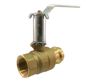 Milwaukee Valve UltraPure™ Press x Threaded Brass Full Port Ball Valve MUPBA491B
